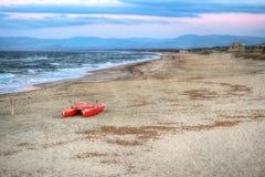 Lifeboat at dusk Stock Photo