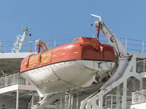 Lifeboat emergency equipment ship boat Stock Photography