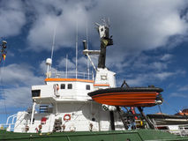 Lifeboat emergency equipment ship boat. Royalty Free Stock Photos
