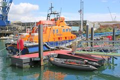 Lifeboat in Falmouth Harbour Royalty Free Stock Photo