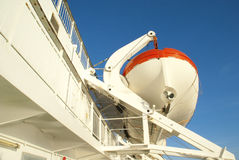 Lifeboat on a ferry Stock Photography