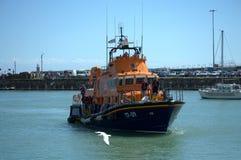 Lifeboat in Folkestone Harbour UK Stock Image