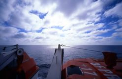 Lifeboat Horizon royalty free stock photos