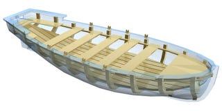 Lifeboat illustration Royalty Free Stock Images
