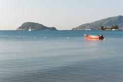 Lifeboat in the Laganas Bay, Zakynthos Island Stock Photography