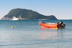 Lifeboat in the Laganas Bay, Zakynthos Island Royalty Free Stock Photo