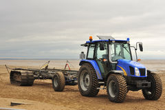 Lifeboat launching tractor, Lytham Stock Photography