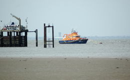 Lifeboat. Spurn Head UK Stock Photo