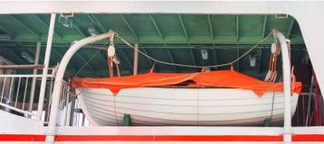 Lifeboat na pokładzie Obraz Stock