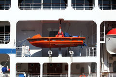 Lifeboat on the ocean cruise liner Royalty Free Stock Photos