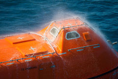 Lifeboat or rescue boat in offshore, Safety standard Royalty Free Stock Photography