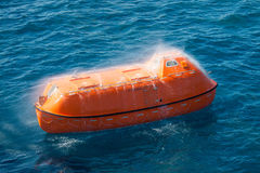 Lifeboat or rescue boat in offshore, Safety standard in offshore Stock Image