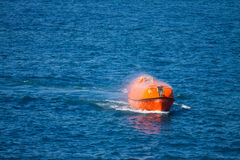 Lifeboat or rescue boat in offshore, Safety standard in offshore Stock Photography