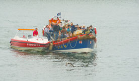 Lifeboat rescue at Whitby. Royalty Free Stock Image