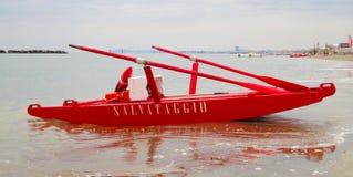 Lifeboat, Rimini beach, Italy Royalty Free Stock Photography