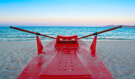 Lifeboat on the sand Royalty Free Stock Photos