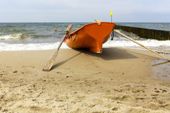 Lifeboat on the sea shore Stock Photo