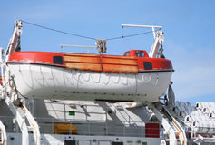 Lifeboat on ship Royalty Free Stock Photo