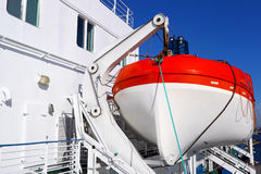 Lifeboat by the ship Royalty Free Stock Image