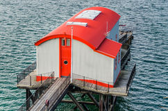 Lifeboat Station. Colourful Lifeboat Station on the Coast of Wales, UK Royalty Free Stock Photos