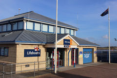 Lifeboat station RNLI shop Fleetwood Lancashire Stock Photo