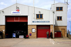Lifeboat station, Skegness. SKEGNESS, LINCOLNSHIRE, UK. JUNE 01, 2015. The lifeboat station and shop on the seafront at Skegness in Linconshire, UK Royalty Free Stock Images