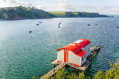 Lifeboat Station. In Wales at Sunset Royalty Free Stock Photos