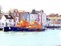 A lifeboat visits Weymouth, Dorset, UK Stock Image