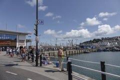 Lifeboatman Brixham Torbay Devon Endland Reino Unido Imagem de Stock Royalty Free
