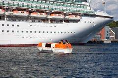 lifeboats действия стоковое изображение rf