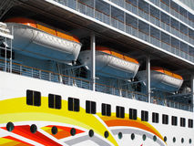 Lifeboats. On deck of a cruise ship Royalty Free Stock Photos