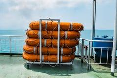 lifeboats fotografia stock