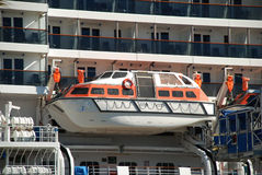 Lifeboats on cruise ship Royalty Free Stock Image