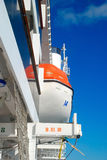 Lifeboats on cruise ship Royalty Free Stock Photo