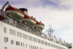 Lifeboats on large ship. The lifeboats on large ship Stock Images