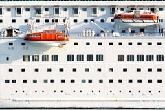Lifeboats on modern cruise ship Royalty Free Stock Image