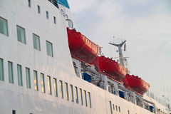 Lifeboats onboard a passenger vessel Stock Image