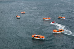 Lifeboats Royalty Free Stock Photography