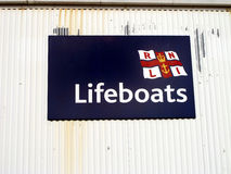 Lifeboats Sign. Stock Images