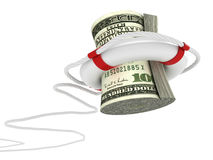 Lifebouy with dollar Stock Photo