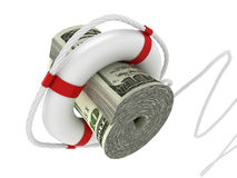 Lifebouy with dollar Royalty Free Stock Photo