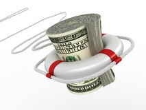 Lifebouy with dollar Royalty Free Stock Image
