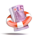 Lifebouy with euro Stock Photos