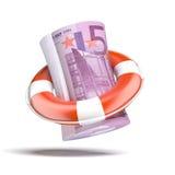 Lifebouy med euro stock illustrationer