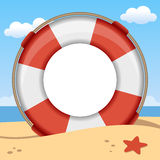 Lifebuoy夏天照片框架 向量例证