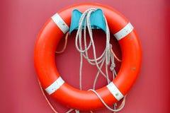 lifebuoy κόκκινο Στοκ Εικόνα