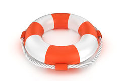 Lifebuoy που απομονώνεται στο λευκό Στοκ φωτογραφία με δικαίωμα ελεύθερης χρήσης
