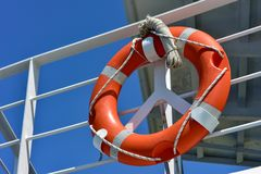 lifebuoy σκάφος Στοκ Φωτογραφίες