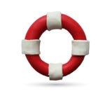 Lifebuoy στο άσπρο υπόβαθρο απεικόνιση αποθεμάτων