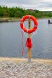 Lifebuoy στο λιμάνι Στοκ εικόνες με δικαίωμα ελεύθερης χρήσης